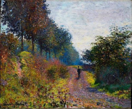 1873 The Sheltered Path, 1873 Claude Monet