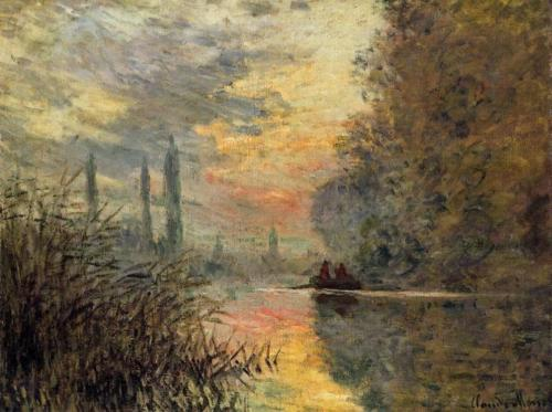 1876 Evening in Argenteuil oil on canvas Private Collection (1)