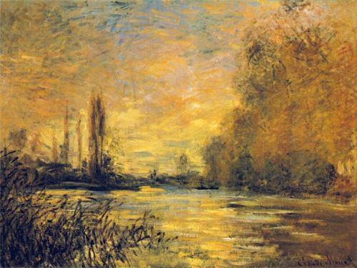 1876 Small Arm of the Seine at Argenteuil oil on canvas