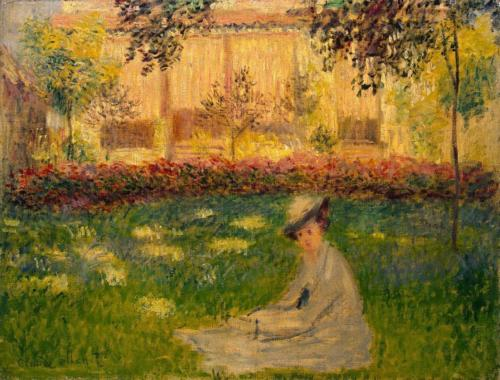 1876 Woman in a Garden oil on canvas 50 x 65.5 cm Hermitage, St. Petersburg