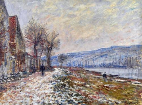 1879 The Siene at Lavacourt, Effect of Snow oil on canvas 51 x 66 cm Private Collection