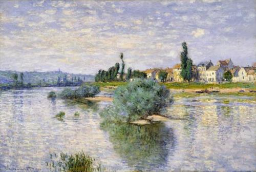 1880 The Seine at Lavacourt oil on canvas 98.4 x 149.2 cm Dallas Museum of Art TX