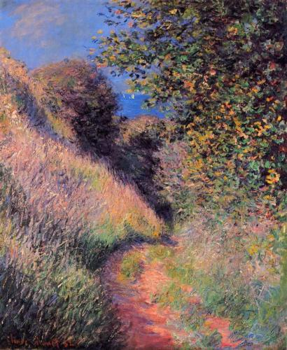 1882 The Path at Pourville oil on canvas Private Coillection