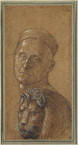 Carpaccio, Vittore, Head of a Man and Head of a Lion (verso), 1495-1516
