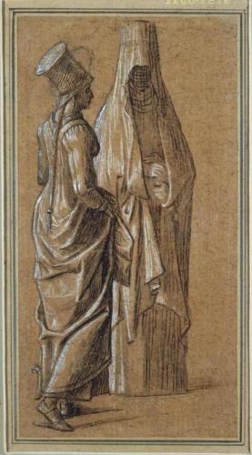 Carpaccio, Vittore, Two Standing Women, One in Mamluk Dress (recto), 1495-1516