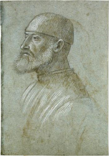 Vittore Carpaccio - Head of Bearded Man Wearing a Cap, in Profile to the Left - Google Art Project